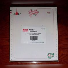 VINTAGE Tandy Computer Paper-Fanfold-Holiday Letterhead-Radio Shack-20# Bond-NOS #Tandy #fanfold #RadioShack
