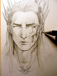 The Hobbit - Thranduil WIP by Lehanan.deviantart.com on @deviantART