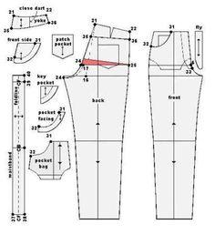 molde calça moletom feminina com informações