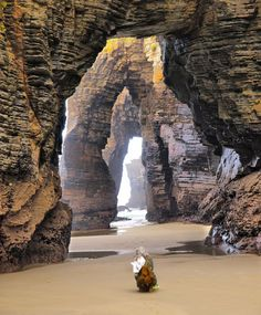Playa de las Catedrales, Ribadeo, Asturias, Spain  During my trip to Europe, I'd love to go to this beach.