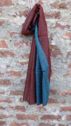 RED WINE BLUE REVERSIBLE PASHMINA SCARVES