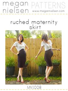 It maybe to late  but this site has 16 pages of various maternity (and a couple non-maternity) sewing patterns