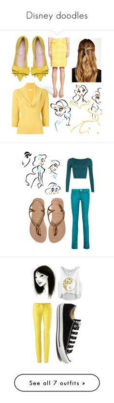 """Disney doodles"" by smartfashion-1 ❤ liked on Polyvore featuring Halogen, Prada, Natasha Accessories, WearAll, M Missoni, Havaianas, Converse, Kate Spade, Glamorous and LASplash"