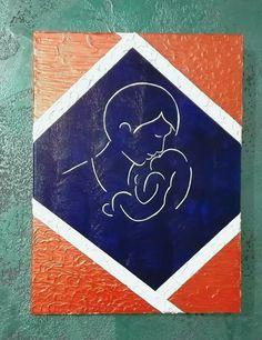Paternità, acrilico su tela. Autrice Lisa Messina. 30x40