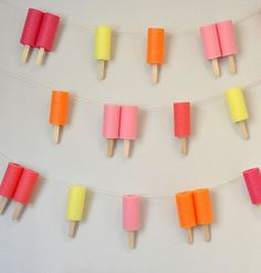 With summer finally here and popsicles on the brain, I just HAD to share this garland tutorial with you! It's the perfect addition to your n...