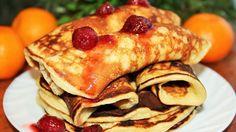 Мягкие творожные блинчики: быстрый и вкусный завтрак Crepes, Pancakes, Food And Drink, Breakfast, Ethnic Recipes, Desserts, Youtube, Languages, Recipes