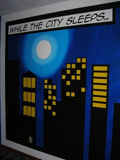 UFO Crafting: While the City Sleeps ... would be great for the back of a batman quilt