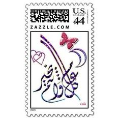 You kidding me? 46 cent Forever Stamp. Apparently they think that putting hearts and butterflies on the new stamp will make most people not realize that the rest is Arabic and NOT something we want to support. The second MUSLIM one!! Celebrates a Muslim holiday. President Obama has directed the United States Postal Service To REMEMBER and HONOR the EID MUSLIM holiday season with a new commemorative 46 Cent First Class Holiday Postage Stamp. REMEMBER: Adamantly and vocally BOYCOTT this stamp