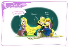 Pocket princesses 150: Healing Hair by Amy Mebberson | Please reblog, do not repost or remove credits