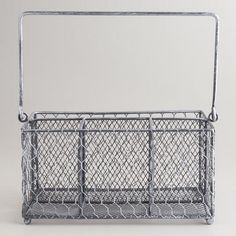 Keep your flatware organized with our exclusive Silver Wire Flatware Caddy. Made of metal wire and built to last, this classic storage caddy is a perfect solution to keep your flatware and serveware handy and tidy at an unbelievable value. Utensil Storage, Flatware Storage, Storage Caddy, Utensil Holder, Kitsch, Silverware Caddy, Beach Cottage Kitchens, Kitchen Games, Kitchen Ideas