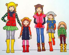 children's fashion drawing templates - Google Search