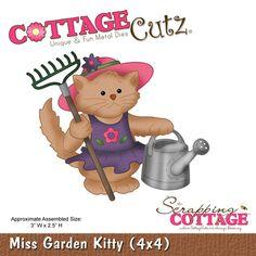 """CottageCutz """"""""Miss Garden Kitty"""""""" 4"""""""" x 4"""""""" Die"""