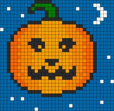 Pumpkin Perler Bead Pattern / Bead Sprite