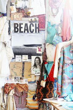 Beach inspired fashion moodboard