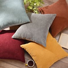 Use throw pillows on your couch, accent chair, bench or bed for an added touch of style! The best thing about these Harris Throw Pillows is that they are also comfortable!