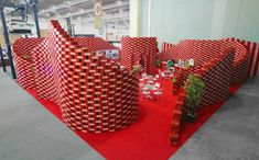 Coca Cola upcycling pavilon at Expo CIHAC by BNKR Arquitectura, Mexico City