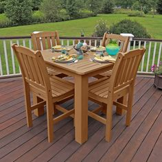 Have to have it. Highwood USA Lehigh Collection Square Balcony Height Patio Dining Set - $1859.95 @hayneedle