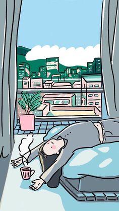 I Wallpaper, Lock Screen Wallpaper, Tumblr Wallpaper, Wallpaper Backgrounds, Cute Art, Love Illustration, Digital Illustration, Character Illustration, Aesthetic Anime
