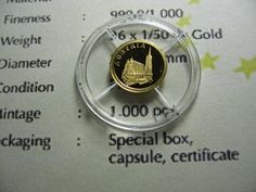 AUSTRIA ST. STEPHENS CATHEDRAL 2008 LIBERIA $12 MINI .62 GRAM 999 GOLD COIN