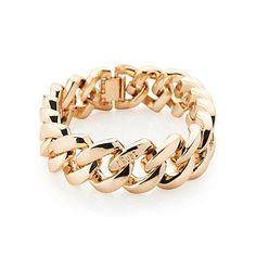 The Rubz Metalen Armbanden Collection The Rubz Soft Gold medium 19 cm - Metal Collectie