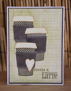Clearly Whimsy Stamps: Coffee Break Additions stamp set, Coffee Cup die set