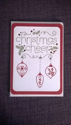 Stampin' Snowflake: Sarah Bell - Stampin' Up! Independent Demonstrator: Stampin' Up! Cheerful Christmas Card