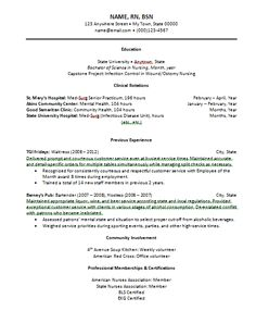 Graduate Nurse Resume Sample Nursing Resume  New Graduate Nurse  Nursing And Job