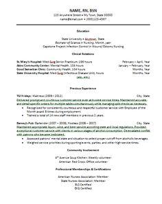 NEW GRAD NURSE RESUME | New Grad Registered Nurse Cover Letter ...
