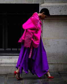 Красный, розовый и фиолетовый — цветовое трио весны
