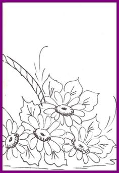 1risco para pintura em tecido -CESTO DE MARGARIDAS 2