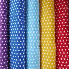 d4a5aa9603b Jersey fabric - Purple small star print - cotton elastane knit - Bobbins &  Buttons Star