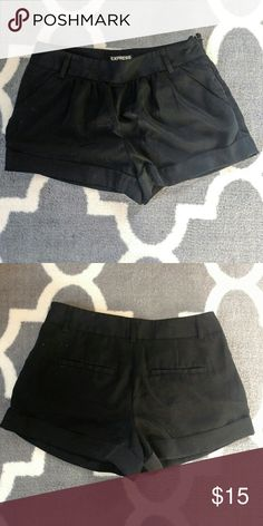 Express Shorts Dressy black shorts. Side zipper. Great condition. Smoke free home. Express Shorts