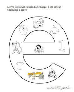 Játékos tanulás és kreativitás: Kisbetűkben képek a hangfelismerés gyakorlásához Dysgraphia, Letter Activities, Special Education, Worksheets, Preschool, Symbols, Letters, Teaching, Writing