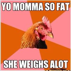 Oh anti joke chicken.