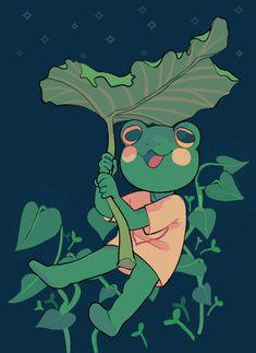 2019 frog by Luxjii on DeviantArt Cute Art Styles, Cartoon Art Styles, Animal Drawings, Cool Drawings, Arte Indie, Posca Art, Frog Art, Arte Sketchbook, Dibujos Cute