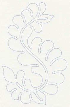 Machine Embroidery Designs at Embroidery Library! - Feather Quilting Wavy Leaf (Single Run)