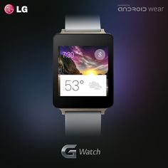 LG G Watch G Watch, Android Watch, Wearable Technology, Smart Watch, Gadgets, Watches, Products, Appliances, Smartwatch