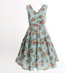 free shipping floral print dress knee length long vintage inspired clothing sexy party club wear dresses new fashion dress $32.00