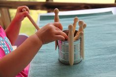 clothespinning for fine motor skills - Re-pinned by #PediaStaff. Visit ht.ly/63sNt for all our pediatric therapy pins