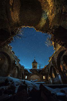 Lost Religion. An abandoned church, Mavrovo, Macedonia // Ognen Bojkovski