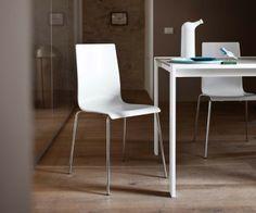 Novamobili Stuhl Please Hochglanz aus Kunststoff