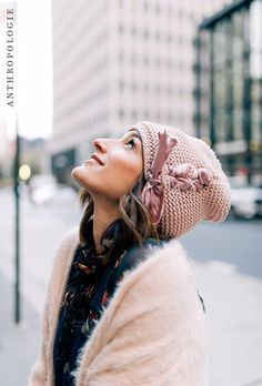 Ribbon-Laced Beanie | Shop holiday gifts at Anthropologie