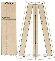 Resultado de imagen para patrones falda tipo a Skirt Patterns Sewing, Blouse Patterns, Clothing Patterns, Diy Clothing, Sewing Clothes, Pattern Drafting, Sewing Tutorials, Vintage Sewing, Wedding Dress Patterns