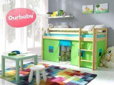 Dětská vyvýšená postel Ourbaby Modo Playroom, Loft, Bed, Furniture, Home Decor, Homemade Home Decor, Stream Bed, Game Room, Playrooms