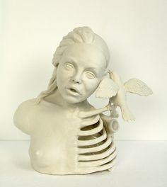 Mariette van der Ven - De Annunciatie Ceramic Sculptures, Viera, Art Forms, Art Pieces, Van, Ceramics, Statue, Photography, Painting