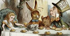 """pagewoman: """" Mad Tea Party..Alice's Adventures in Wonderland by Lewis Carroll illustrated by John Tenniel """""""