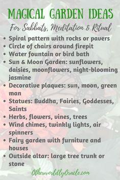 Magical Garden Ideas: Create a Backyard Sanctuary for Sabbats & Ritual Moon Garden, Dream Garden, Garden Art, Garden Hose, Witchy Garden, Garden Spells, Planer Layout, Meditation Garden, Sabbats