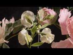 Цветы из мастики. Душистый горошек. Мастер класс. - YouTube