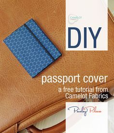 How To's Day: Passport Cover Tutorial