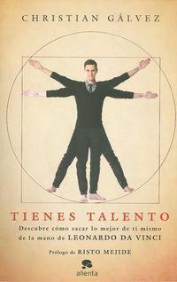 Este es un libro de autoayuda, sí, pero nunca has leído nada igual. Christian Gálvezno sólo comparte contigo intimidades y consejos útiles  para fijar y alcanzartus metas, sino que lo hace de la mano de Leonardo da Vinci, todo un modelode autoaprendizaje y de éxito personal del que puedes aprender a explotar y canalizartu talento http://www.imosver.com/es/libro/tienes-talento_0010006036
